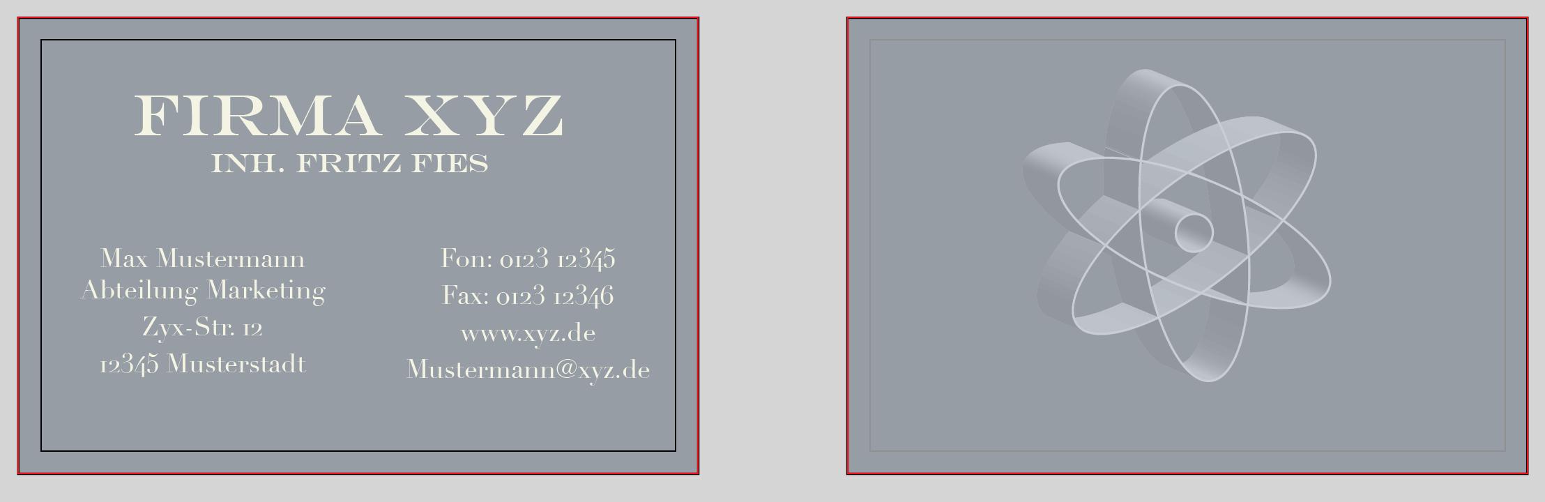 2-seitige Visitenkarten Vorlage für Illustrator