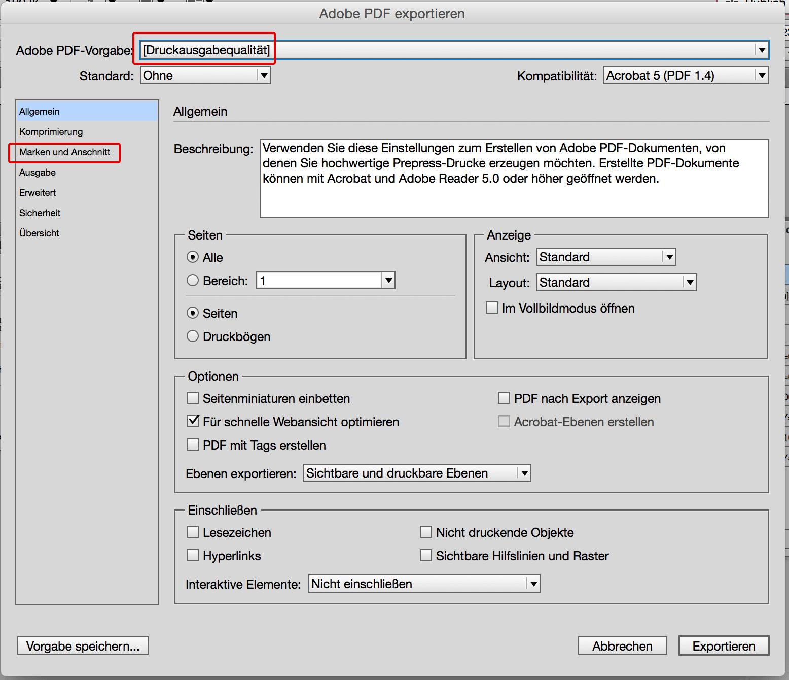 indesign export pdf visitenkarten vorlagen