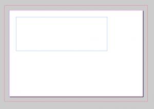 Visitenkarte mit aktiviertem Textrahmen in InDesign