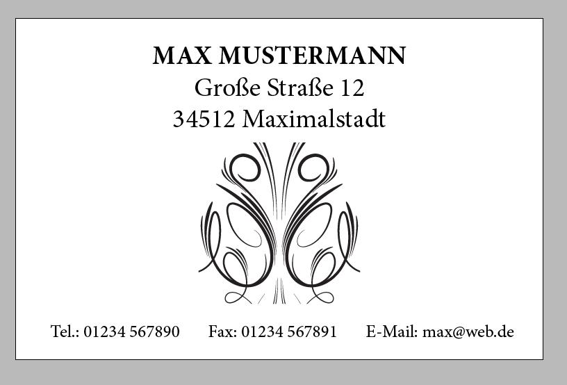 Visitenkarte mit InDesign