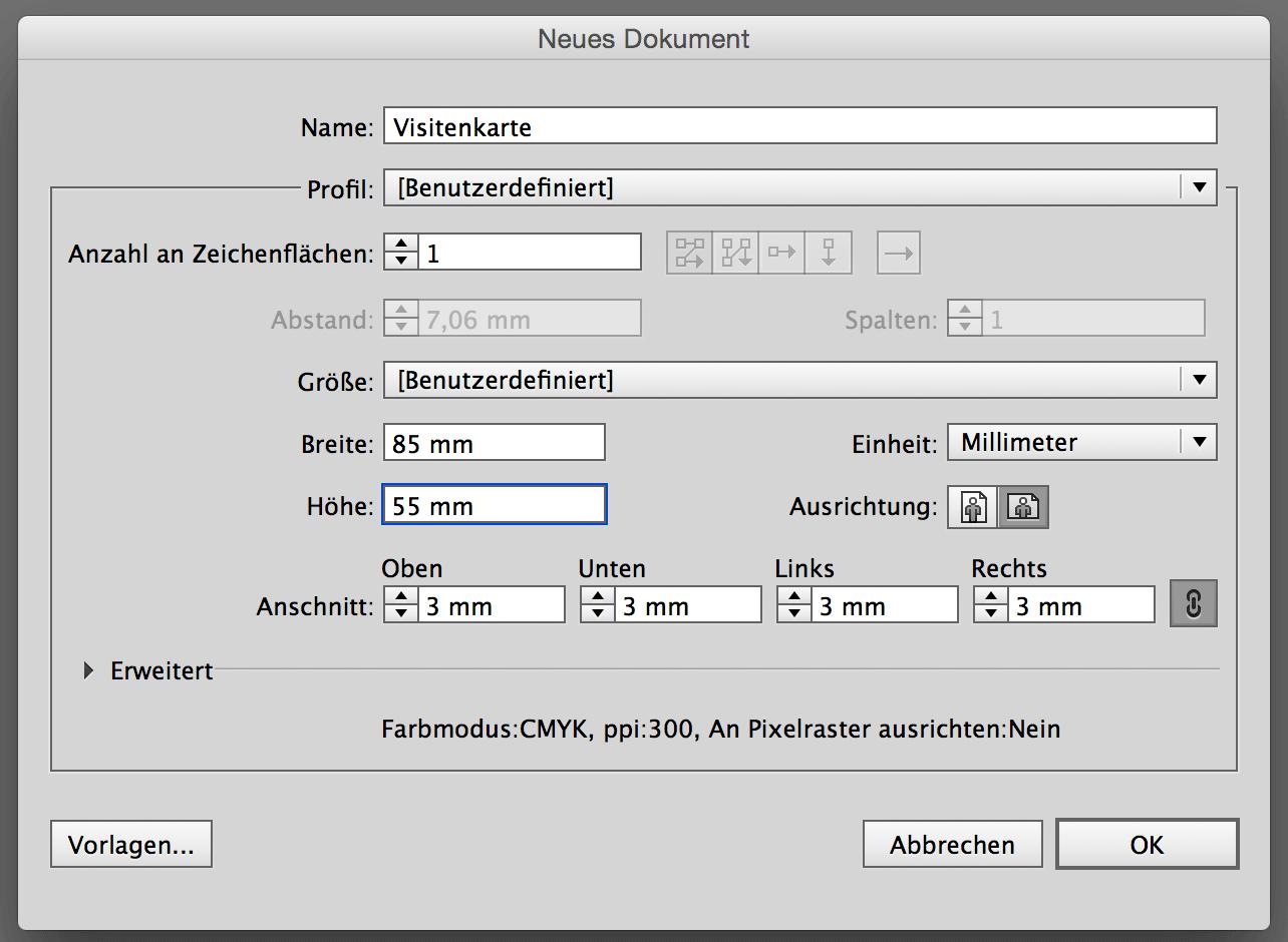 Visitenkarten Mit Adobe Illustrator Erstellen Und